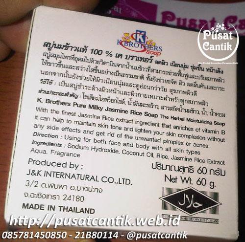 sabun susu beras thailand original k brothers rp 15rb