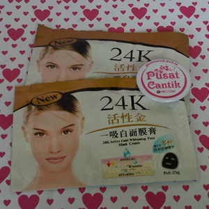 24K Active Gold Whitening Face Mask Cream