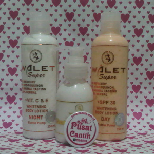 Paket Whitening Body Lotion Walet